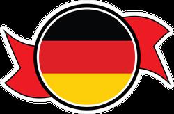 Germany Round Button Ribbon Sticker