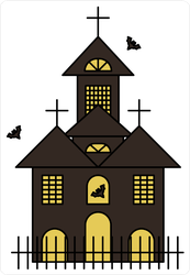 Ghost Castle Haunted House Sticker