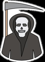 Ghost Grim Reaper With Scythe Sticker