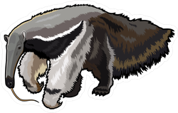 Giant Furry Anteater Sticker