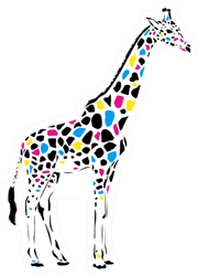 Giraffe Abstract Illustration Sticker