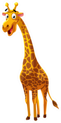 Giraffe Cartoon Style Illustration Sticker