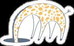 Giraffe Hid His Head In The Hole Sticker