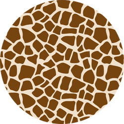 Giraffe Seamless Pattern Sticker
