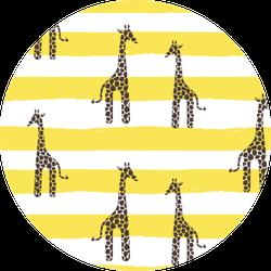 Giraffe Yellow Stripes Pattern Sticker