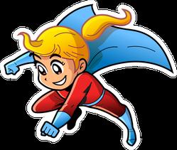 Girl Female Superhero Manga Sticker