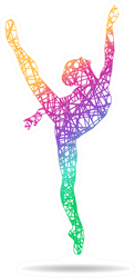 Girl Gymnast In Different Colors Sticker