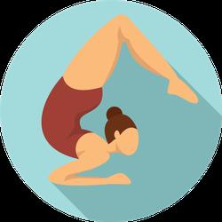Girl Gymnastics Illustration Sticker