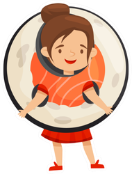 Girl In Sushi Roll Costume Sticker