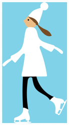 Girl On Ice Skates Sticker