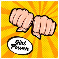 Girl Power Double Fist Sticker