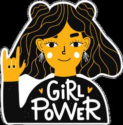 Girl Power Hand Rock Sticker