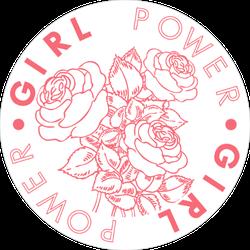 Girl Power Roses Sticker