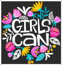 Girls Can Sticker