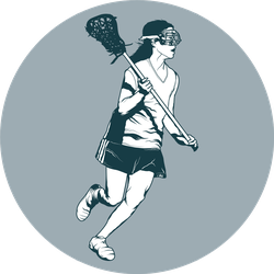Girl's Lacrosse Player Sticker