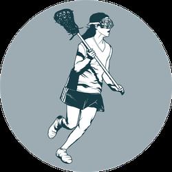 Girl's Lacrosse Player Sticker
