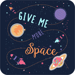 Give Me More Space Slogan Sticker