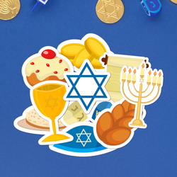 Give The Gift of Stickers - Hanukkah Sticker Bundle