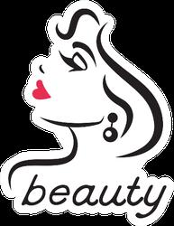 Glamorous Beauty Sticker