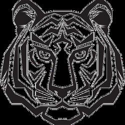 Glaring Tiger Head Sticker