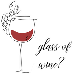 Glass Of Wine Question With Glass Sticker