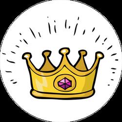 Glimmering Amethyst Crown Sticker