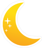 Glimmering Moon Icon Sticker