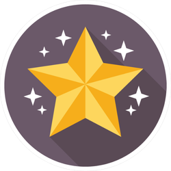 Glimmering Star Circle Sticker
