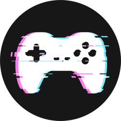 Glitched Gamepad Sticker