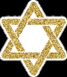 Glitter Star of David Sticker