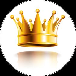 Glossy Golden Crown Sticker