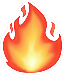 Glowing Flame Sticker