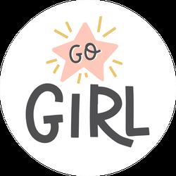 Go Girl Star Sticker