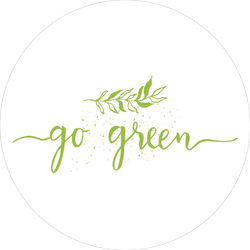 Go Green Calligraphy Sticker