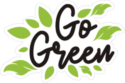 Go Green Campaign Sticker