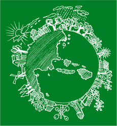 Go Green Earth Doodle Sticker