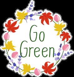 Go Green Flower Sticker