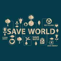 Go Green Save The World Sticker