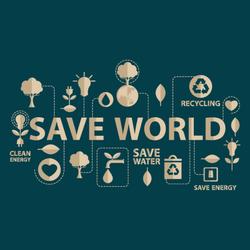 Go Green Save The World Sticker