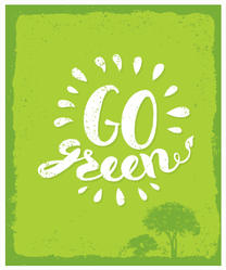 Go Green Trees Sticker