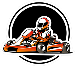 Go Kart Racing Icon Sticker
