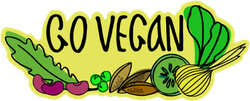 Go Vegan Sketch Sticker