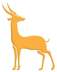 Gold Antelope Looking To The Side Sticker
