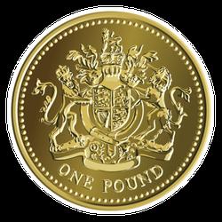 Gold British Coin Sticker
