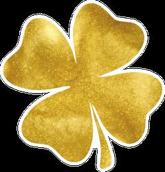 Gold Clover Illustration Sticker