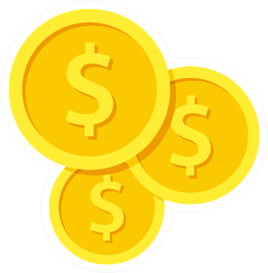 Gold Coin Symbols Sticker