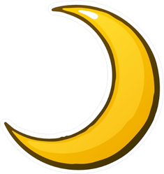 Gold Crescent Moon Sticker