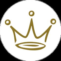 Gold Crown Doodle Sticker