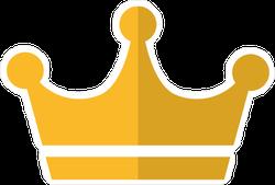 Gold Crown Icon Logo Sticker