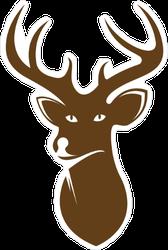 Gold Deer Head Icon Sticker